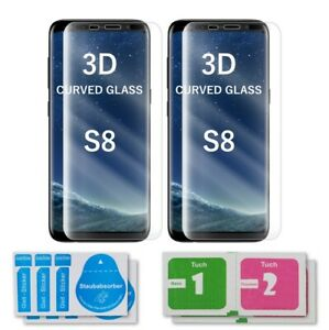 2x Samsung Galaxy S8 Curved Glas 3D Schutzglas Displayschutz