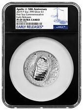 2019 P Apollo 11 50th Commemorative 5 oz Silver Dollar NGC PF69 ER Blk SKU57273