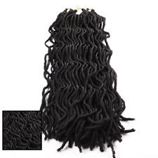 "Wavy Faux Locs Crochet Hair 3 PC 20"" Curly Braids Havana Mambo Dreadlocks 1#"