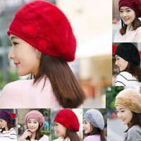 Fashion Women Braided Winter Rageared Warm Baggy Beanie Knit Crochet Ski Hat Cap