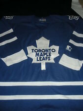 STARTER TORONTO MAPLE LEAFS BLUE NHL HOCKEY JERSEY LARGE ADULT VINTAGE SEWN