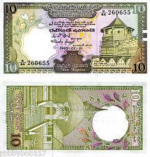 SRI LANKA 10 Rupees Banknote World Money Currency BILL Asia Note p92b (Ceylon)