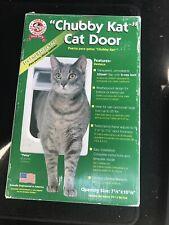 "Chubby Kat Cat Door Dog 2-way 7.5"" x 10"" 4-way Lock W/ Instillation Instructions"