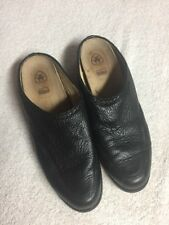 Ariat Women's Black Leather Slip On Casual Mules Shoes Size 7.5 Medium Med M a