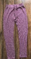 Gymshark Women Ribbed Heathered Burgundy Lounge Pants Size M Euc