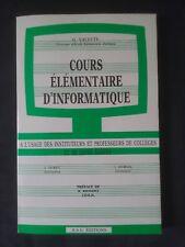 """Magazine en français """"Cours élémentaire d'informatique"""" numéro 19 février 1984"""