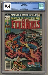 Eternals #3 (CGC 9.4) White pgs; 1st app. Sersi; Jack Kirby; Newsstand (j#5666)