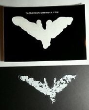 THE DARK KNIGHT RISES PEEL OUT CHALK WHITE CLEAR 3.25x6 BAT MOVIE STICKER