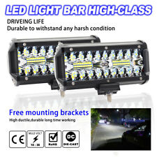 2x 7 inch 500W LED Work Light Bar Flood Spot Beam Offroad SUV Driving Fog Lights