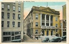 Des Moines Iowa~Elks Club Downtown~Frank Cram Building Materials~Model Cars 1920