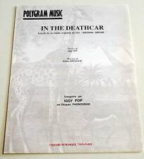 Partition vintage sheet music IGGY POP : In The Deathcar * 90's Arizona Dream