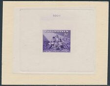 PHILIPPINES #627E DIE ESSAY ON INDIA SUNK ON CARD WITH CONTROL NO. BS3527
