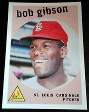 BOB GIBSON 2006 Topps Rookie Card RC Lot of 5 1959 Reprint 2 WS Rings MVP HOF