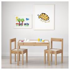 Children Wooden Table & 2 Chairs Kids Child Boy Girl Bedroom Furniture Play Room