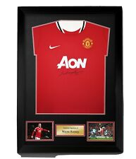 WAYNE ROONEY SIGNED AND FRAMED  MAN UTD SHIRT SUPERB DEAL £99 With Coa
