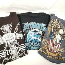 Lot of 3 Sturgis BLACK HILLS Motorcycle T Shirts Sz SM 2010 2011 and 2017