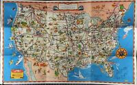 GreyHound A Good Natured Map of the United States guide to the Wonderful West