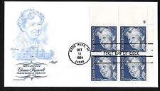 #2105 20c  Eleanor Roosevelt - Artmaster FDCPB4 Plt #9