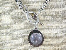 Red Rutilated Quartz Pendant Necklace Sterling Silver Handmade Artisan Signed