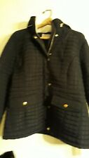 Woman Within Quilted Coat Size 18 Black