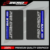 KYB UPPER FORK DECALS MOTOCROSS GRAPHICS MX GRAPHICS PROCIRCUIT CARBON BLUE