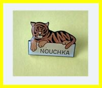 Pin's lapel pin pins NOUCHKA Félin TIGRE Tiger Vintage signé