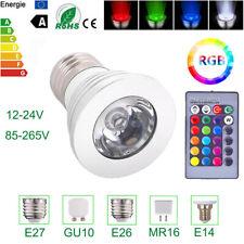 RGB LED Spot Light Bulb Lamp Dimmable E27 GU10 MR16 16 Color 12V Remote Control