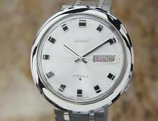 Seiko DX 36mm Vintage 1970s Stainless Automatic Japan Day Date Mens Watch LA119