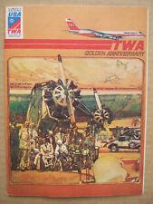 MENU TWA GOLDEN ANNIVERSARY 1926 1976 AMERICAN BICENTENNAL USA TWA