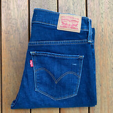 Levis 312 Shaping Slim Size 26 Womens Blue Jeans Straight Leg Casual Hemmed L27