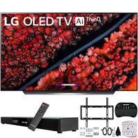 """LG OLED 65 inch C9 4K HDR Smart OLED TV AI ThinQ (2019) & 31"""" Bluetooth Soundbar"""