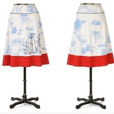 Anthropologie Lithe Seafarer's Map Skirt - Size 2