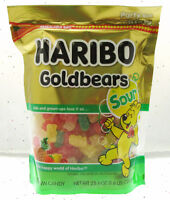 Haribo Gummy Bears Fruit Chewy Candy Gummi ~ Sour Goldbears ~ 25.6oz Bag