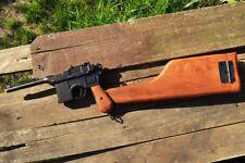 German 1896 Mauser C96 Broomhandle Pistol - Wooden Stock Holster - Denix Replica