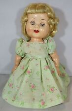 "VINTAGE 1950s 13"" HARD PLASTIC RODDY BLONDE-HAIR GIRL DOLL WITH SMILING FACE"