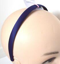 NEW 1.5cm Navy blue matt satin fabric aliceband headband back to school hair