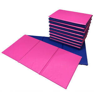 NEW 10x Folding Nursery Sleep Mats Blue / Pink for Children & Toddlers