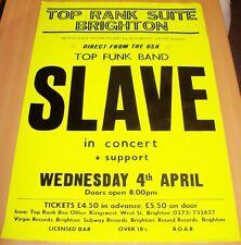 SLAVE FUNK RARE CONCERT POSTER WEDNESDAY 4th APRIL 1979 TOP RANK SUITE BRIGHTON