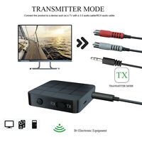 2 in 1 Bluetooth Adapter 3.5mm AUX RCA Jack Wireless Audio Transmitter Receiver