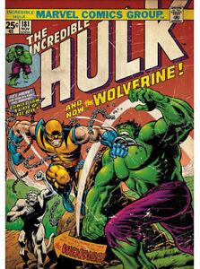 Fathead Hulk Incredible #181 Vs Wolverine Marvel Comics Wall Decor New 96-96022