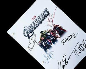 Avengers Assemble Marvel Film Script Signatures Reprint Robert Downey JR Evans