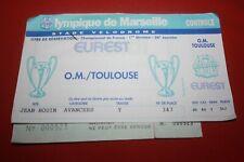 TICKET DOUBLE OM MARSEILLE / TFC TOULOUSE SAISON 1993/1994