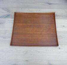 Großes Tablett Teak Teakholz Dänemark 1960er Jahre Vintage Design Mid Century