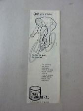 ADVERTISING PUBBLICITA' SIMMENTHAL LA BUONA CARNE IN SCATOLA AL 40° GIRO - 1957