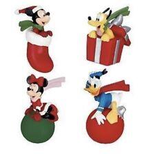 Disney Antenna Toppers Christmas set of 4 Santa Mickey Minnie Mouse Donald Pluto