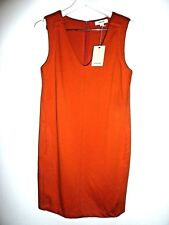 Country Road Womens Dress Size 8 Burnt Orange S/less V Neck