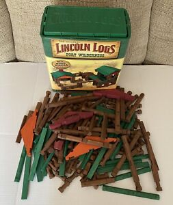 Original Lincoln Logs Fort Wilderness Wood Building 2007 MISSING PARTS See Pics