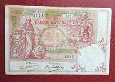 Belgique -  Joli Billet 20 Francs du  25-11-1913