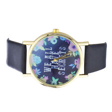 Lux Accessories Gold Tone Navy and Floral We  00004000 All Have Secrets Watch Face Watch
