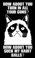 2ND AMENDMENT GUN vinyl decal sticker Truck Diesel car hunting funny Grumpy Cat
